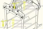 Траверса :: Траверса, предназначенная для поднятия поддонов с кирпичами.