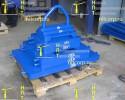 Набор стальных грузов для испытания кранов массой 1,5 тонны :: Спроектирован и произведен под заказ для международной компанииSCA